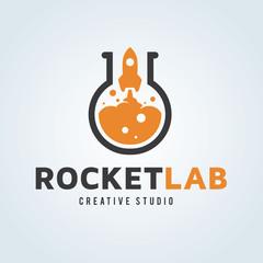 Rocket logo. lab logo.Start up logo template.creative logo design. Vector logo template.