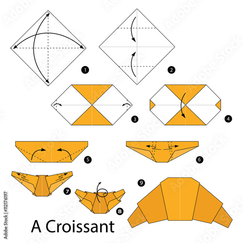 Step By Instructions How To Make Origami A Croissant