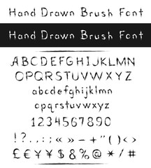 Hand drawn brush font