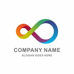 Colorful Infinity Circle Vector Logo Template