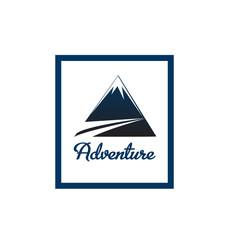Adventure blue mointain logo portrait vector