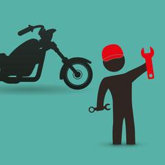Motorcycle design. transportation icon. isolated illustration