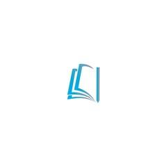 pencil and book logo