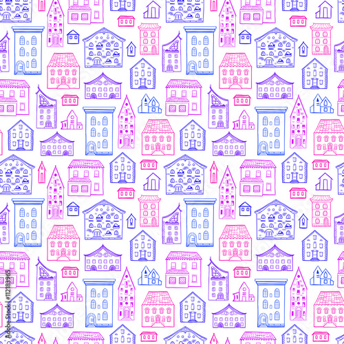 Seamless hand drawn pattern cute colorful background for Cute paper designs