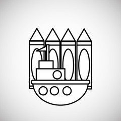 Toy design. childhood icon. Colorful illustration