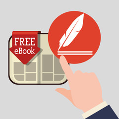 eBook  design. reading icon. White background , vector illustration , vector