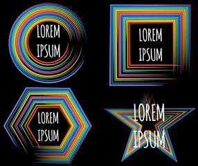 Vector rainbow logo