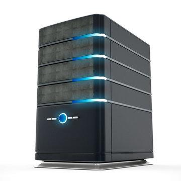 Network server. 3D illustration.