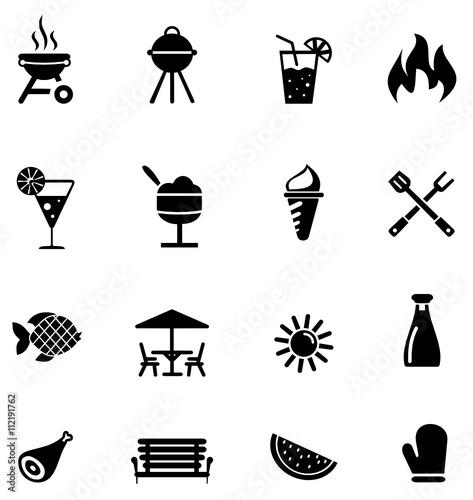 icons sommer und grillen stockfotos und lizenzfreie vektoren auf bild 112191762. Black Bedroom Furniture Sets. Home Design Ideas