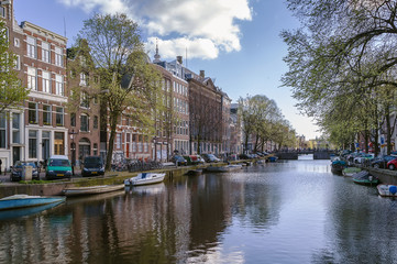 View of Amsterdam canal, Netherlands