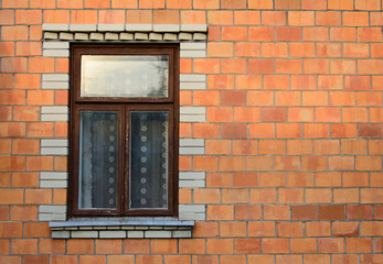 Window in a brick wall