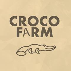 Vector flat simple minimalistic animal logo. Animal icon, animal sign, symbol isolated. Nature park, national zoo, pet shop logo, animal food store logo.
