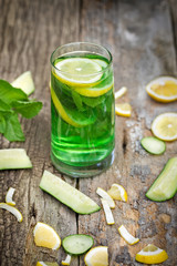 Refreshing drink - healthy green drink