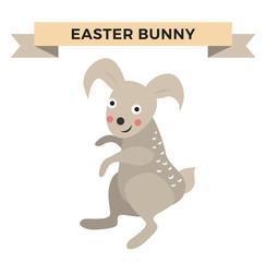 Easter bunny cute vector style