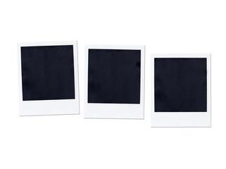 Instant photo isolatedon white background