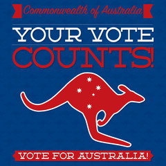 Australian Election card in vector format.