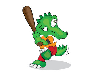 crocodile playing cartoon