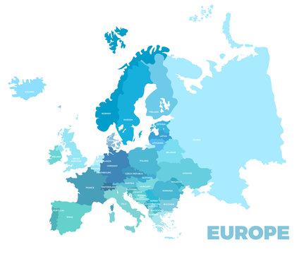 Europe modern detailed map
