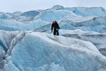 Ice climbing Mendenhall Glacier, Juneau, Alaska