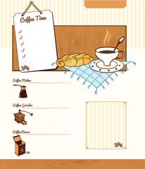 Coffee theme background