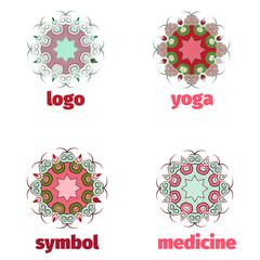 Vector abstract logo design template for alternative medicine, health center and yoga studios - emblem