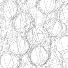 Tangled abstract monochrome background for design