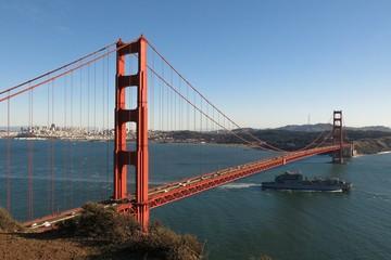 Golden Gate Bridge San Francisco Bay California USA view from Battery Spencer