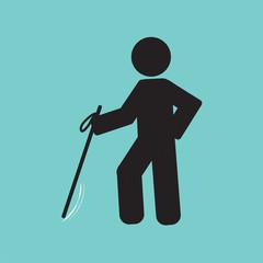 Blind Disabled Black Symbol Graphic Vector illustration.
