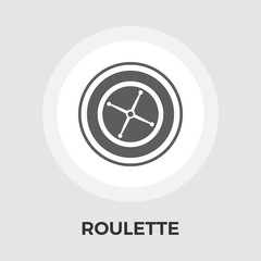 Roulette vector flat icon