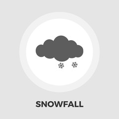Snow icon flat