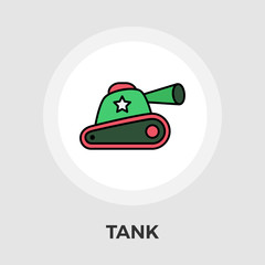 Tank toy vector flat icon