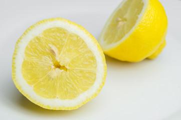 Fototapete - Halbierte Zitrone