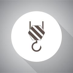 Vector icon of industrial hook