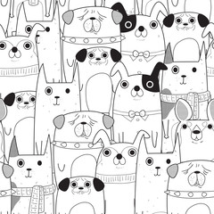 Seamless Dogs pattern