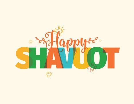 Happy Shavuot. Jewish holiday of Shavuot