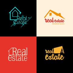 Set of Real Estate background