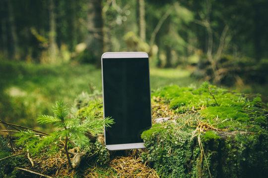 Smartphone in nature.