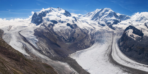 Poster Glaciers Gorner and Grenz Glaciers