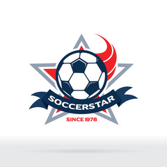 Soccer Star Badge, Football Club Icon