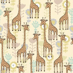 Cute babies doodle seamless pattern. Pastel background.