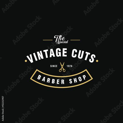 quotvintage barber shop logoquot imagens e vetores de stock