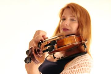 Die Wirbel einer Geige