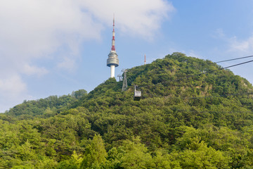 SEOUL,South Korea - MAY 24:cable car to N Seoul Tower. MAY 24, 2