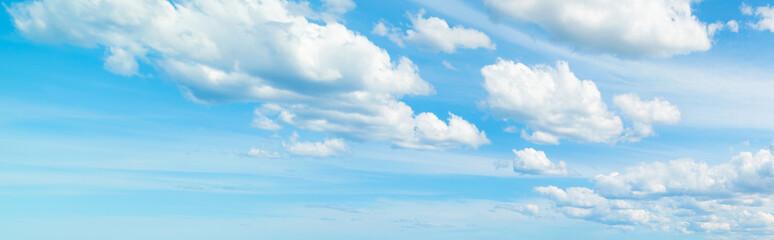 soft clouds in the blue sky
