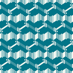 Graphic simple ornamental tile, vector repeated pattern made usi