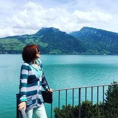 Enjoying lake view