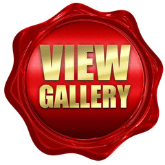 view gallery, 3D rendering, a red wax seal