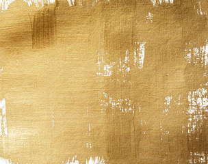 Golden acrylic grunge background