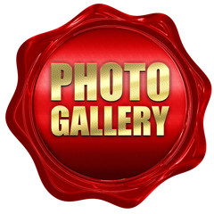 photo gallery, 3D rendering, a red wax seal