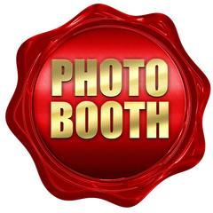 photo booth, 3D rendering, a red wax seal